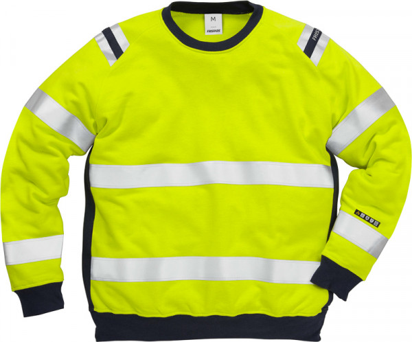 Kansas FLAMESTAT HIGH VIS SWEATSHIRT KL. 3 7076 Gelb/Navy 109428