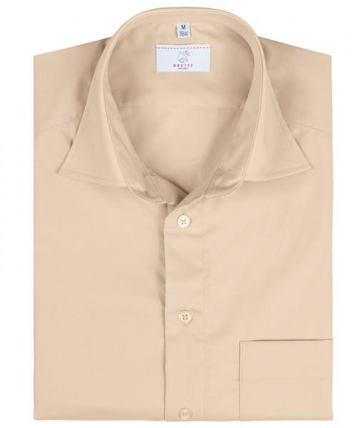 GREIFF, Herren-Hemd 1/2 Regular F/beige Art.Nr.666