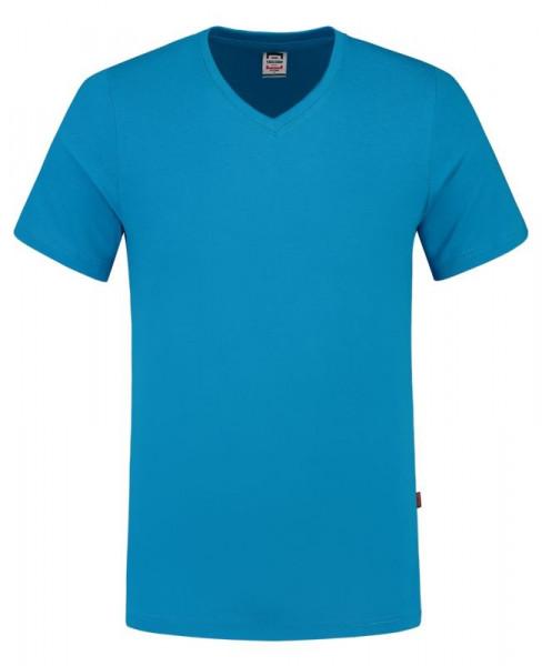 TRICORP, T-Shirt V-Ausschnitt Slim Fit, turquoise, 101005