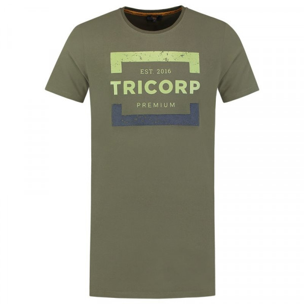TRICORP, T-Shirt Premium Herren Lang, Army, 104001