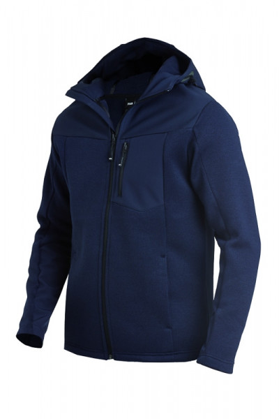 FHB MAXIMILIAN Hybrid-Softshell-Jacke, marine