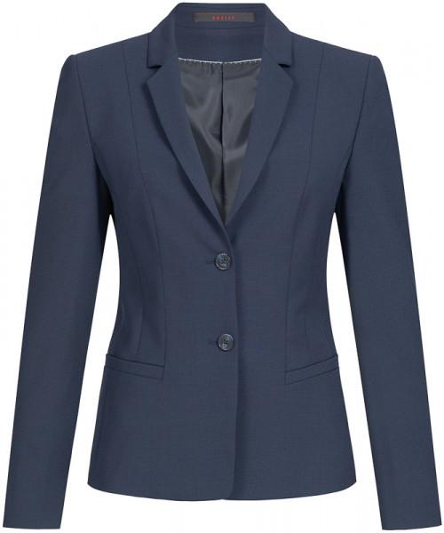 GREIFF Damen-Blazer Regular Fit blau Mikrodessin Corporate Wear 1446.666.121 1446 666 Blazer