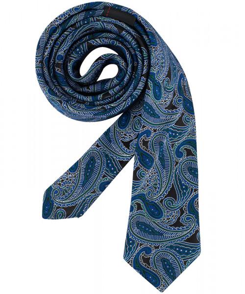 GREIFF, Krawatte Slimline/dunkelblau Paisley Art.N