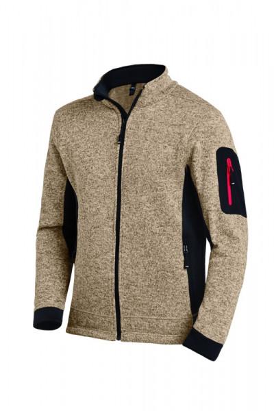 FHB CHRISTOPH Strick-Fleece-Jacke, beige