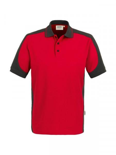 Hakro Poloshirt Contrast Performance rot/anthrazit 0839-002