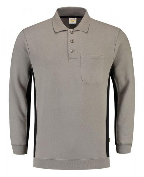 TRICORP, Sweatshirt Polokragen Bicolor Brusttasch, greyBlack, 302001
