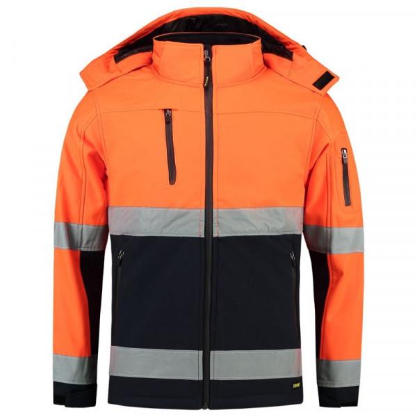 TRICORP, Softshelljacke EN ISO 20471 Bicolor, OrangeNavy, 403007