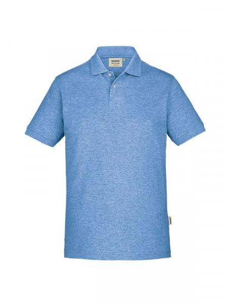 Hakro Poloshirt GOTS-Organic pastellblau meliert 0831-324