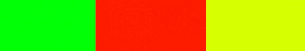 Tagesleuchtfarben Grün Rot Gelb