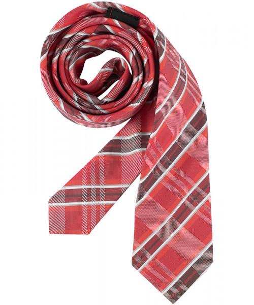 GREIFF Krawatte Slimline rot kariert Accessoires 6918.9700.651 6918 9700 Krawatte