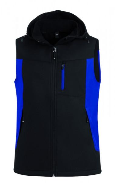 FHB JUSTUS Softshellweste, royalblau-schwarz