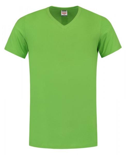 TRICORP, T-Shirt V-Ausschnitt Slim Fit, Lime, 101005