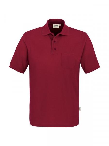 Hakro Pocket-Poloshirt Performance weinrot 0812-017