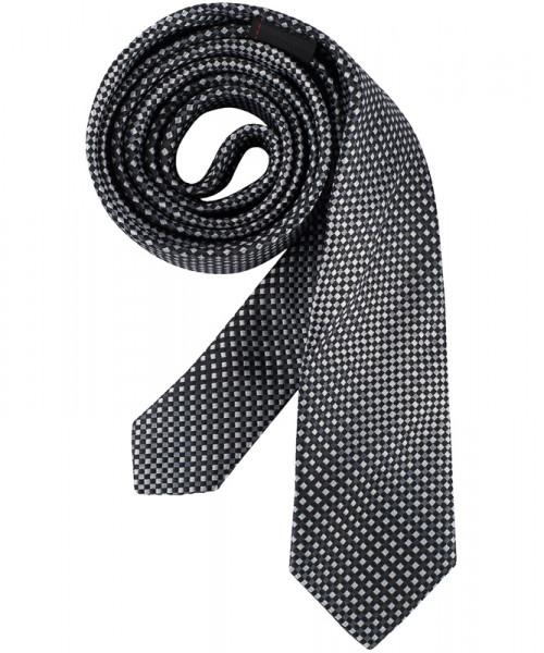 GREIFF Krawatte Slimline schwarz/grau kariert Accessoires 6918.9700.515 6918 9700 Krawatte