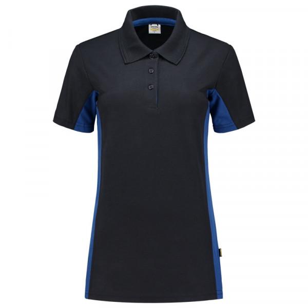 TRICORP, Poloshirt Bicolor Damen, Navyroyal, 202003