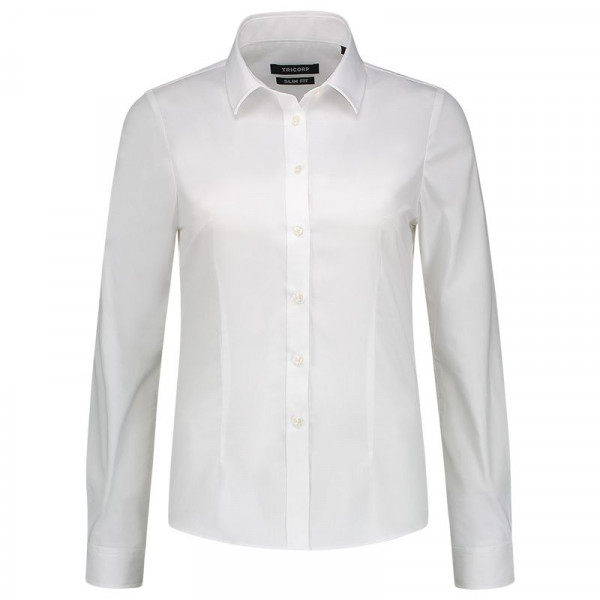 TRICORP, Bluse Stretch Slim Fit, White, 705016