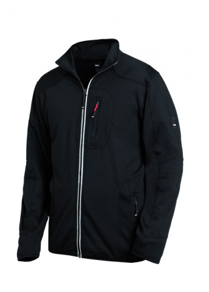 FHB RALF Jersey-Fleece-Jacke, schwarz