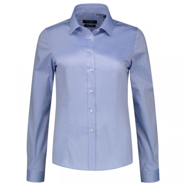 TRICORP, Bluse Stretch Slim Fit, Blue, 705016