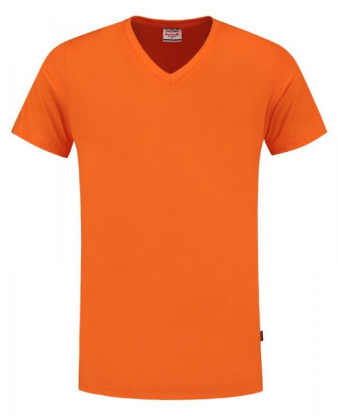 TRICORP, T-Shirt V-Ausschnitt Slim Fit, Orange, 101005