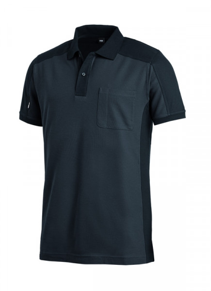 FHB KONRAD Polo-Shirt, anthrazit-schwarz