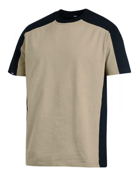 FHB MARC T-Shirt zweifarbig , beige-schwarz