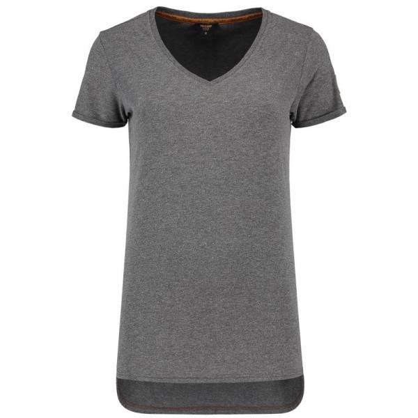 TRICORP, T-Shirt Premium V-Ausschnitt Damen, Stonemel, 104006