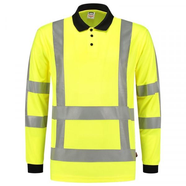 TRICORP, Poloshirt EN ISO 20471 Birdseye, Langarm, Yellow, 203005