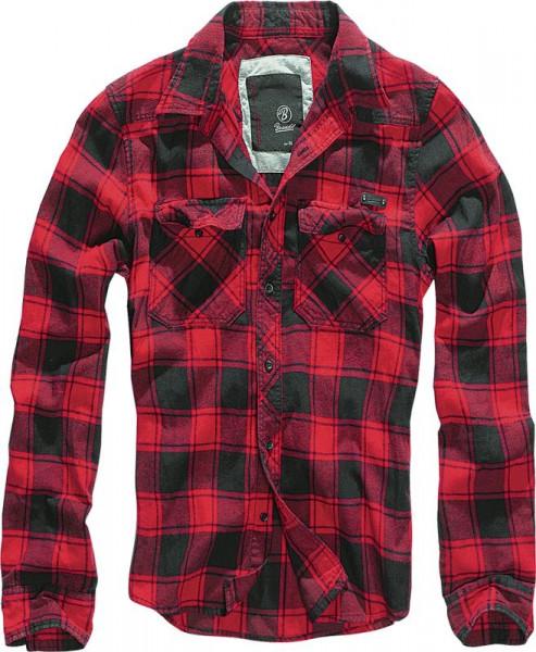BRANDIT, Checkshirt, red/black / 4002