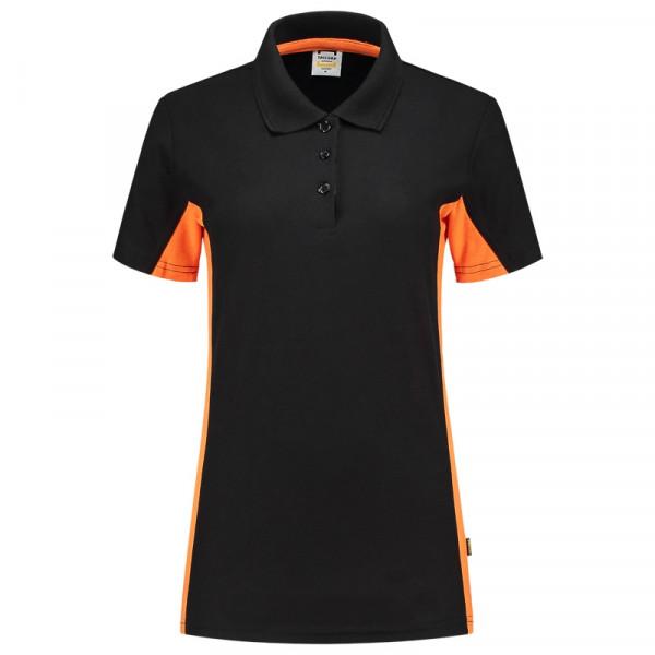 TRICORP, Poloshirt Bicolor Damen, Blackoran, 202003