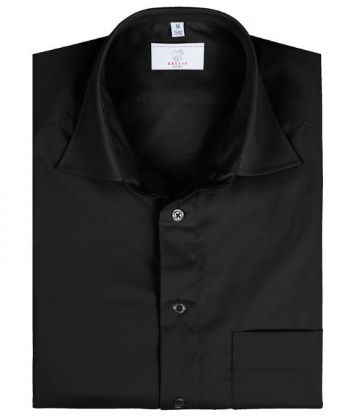 GREIFF, Herren-Hemd 1/2 Regular F/schwarz Art.Nr.6