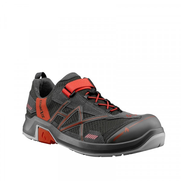 HAIX, CONNEXIS Safety T S1 low grey-red 630003