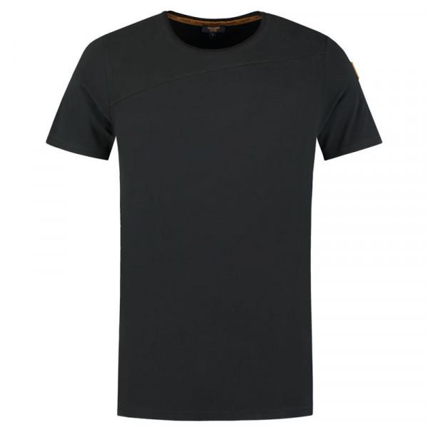 TRICORP, T-Shirt Premium Quernaht Herren, Black, 104002