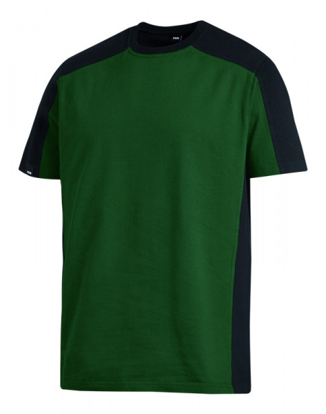 FHB MARC T-Shirt zweifarbig , grün-schwarz