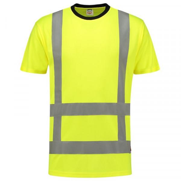 TRICORP, T-Shirt EN ISO 20471 Birdseye, Yellow, 103005