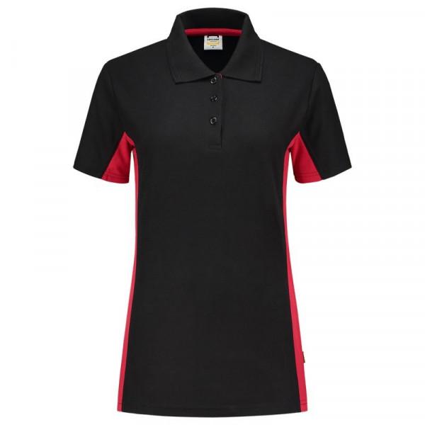 TRICORP, Poloshirt Bicolor Damen, Blackred, 202003