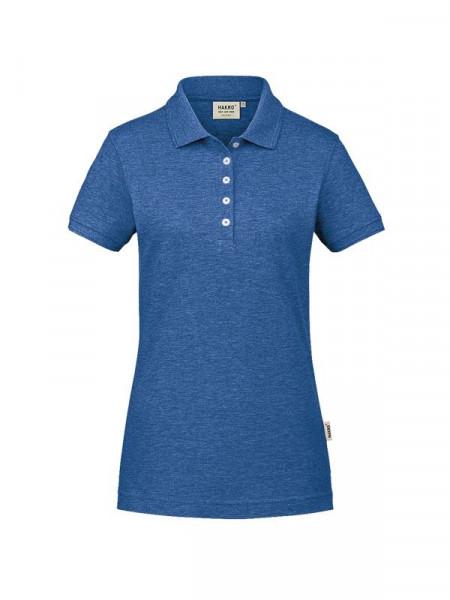 Hakro Damen-Poloshirt GOTS-Organic ultramarinblau meliert 0231-325