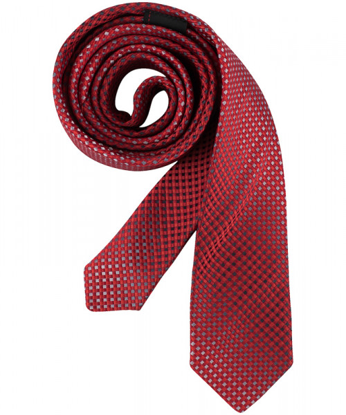 GREIFF Krawatte Slimline rot/grau kariert Accessoires 6918.9700.554 6918 9700 Krawatte