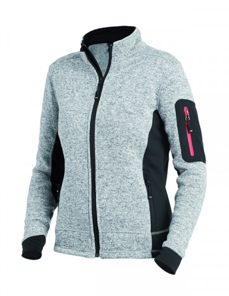 FHB MARIEKE Strick-Fleece-Jacke Damen, grau