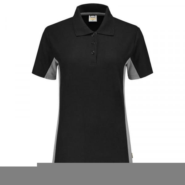 TRICORP, Poloshirt Bicolor Damen, BlackGrey, 202003