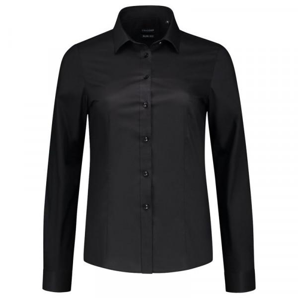 TRICORP, Bluse Stretch Slim Fit, Black, 705016