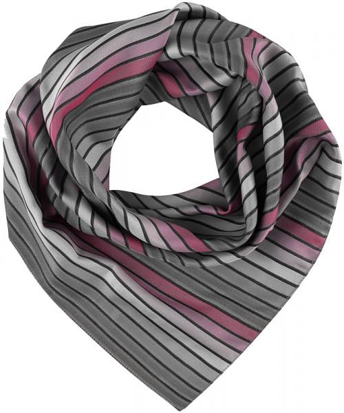 GREIFF, Tuch gewebt/grau/rosé gestreift Art.Nr.690