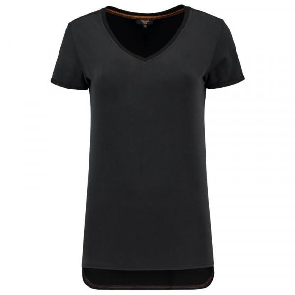 TRICORP, T-Shirt Premium V-Ausschnitt Damen, Black, 104006