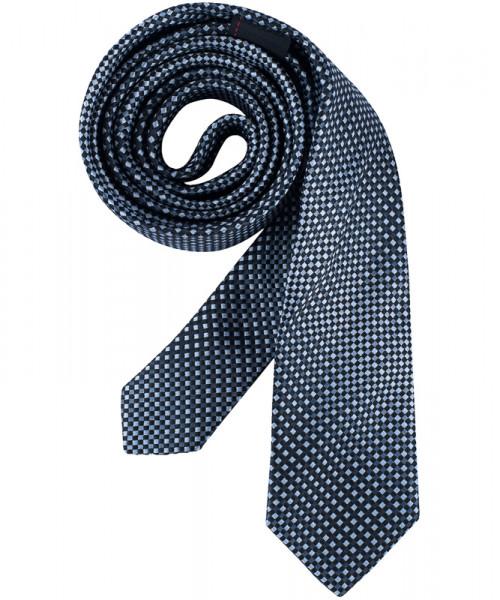 GREIFF, Krawatte Slimline/blau/grau kariert Art.Nr