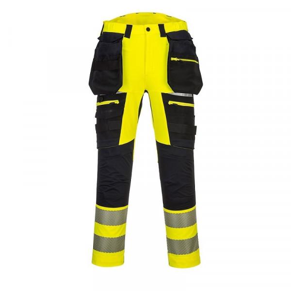 PORTWEST Warnschutzhose mit abnehmbaren Holstertaschen / DX442
