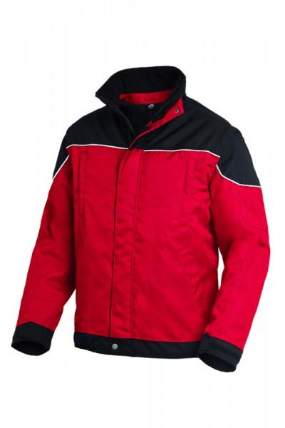 FHB TOM Arbeitsjacke 2 in 1, rot-schwarz