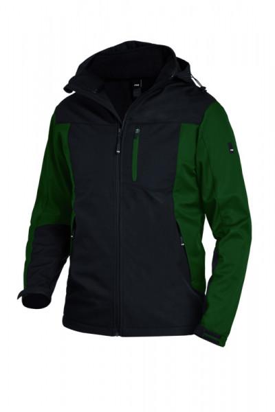 FHB JANNIK Softshelljacke, grün-schwarz