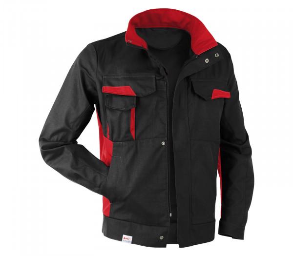 KÜBLER VITA cotton+ Jacke schwarz/mittelrot, 1L453421