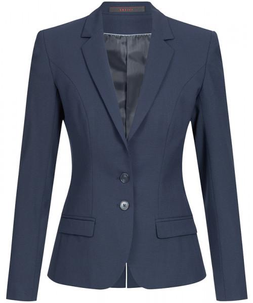 GREIFF Damen-Blazer Slim Fit blau Mikrodessin Corporate Wear 1411.666.121 1411 666 Blazer