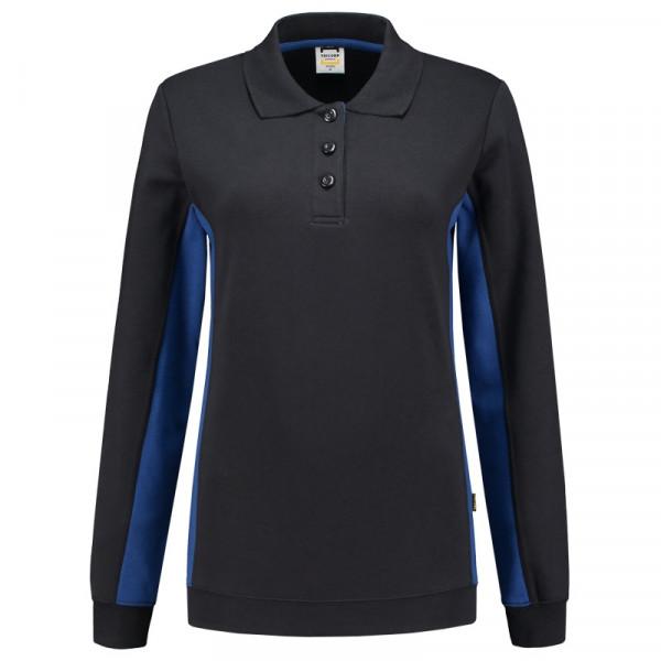 TRICORP, Sweatshirt Polokragen Bicolor Damen, Navyroyal, 302002