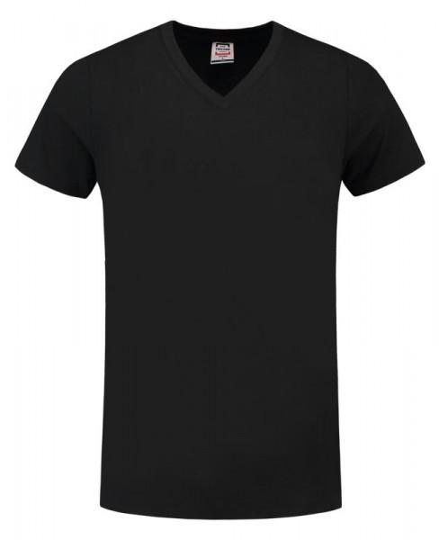 TRICORP, T-Shirt V-Ausschnitt Slim Fit, Black, 101005